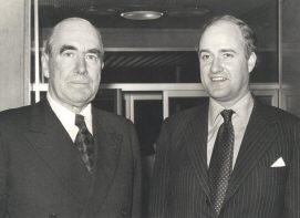 Michael Wynne-Parker with Lord Caradon, United Nations, 1976